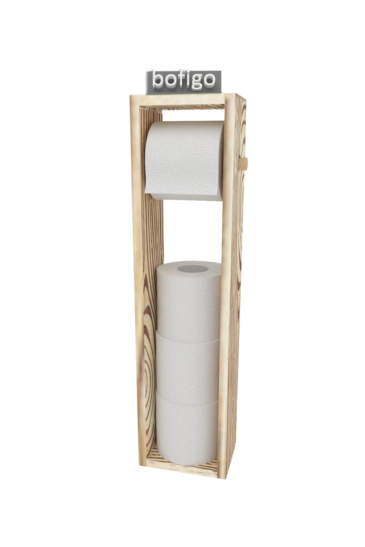 Bofigo Tuvalet Kağıtlığı WC Kağıtlığı Ahşap Tuvalet Kağıtlık