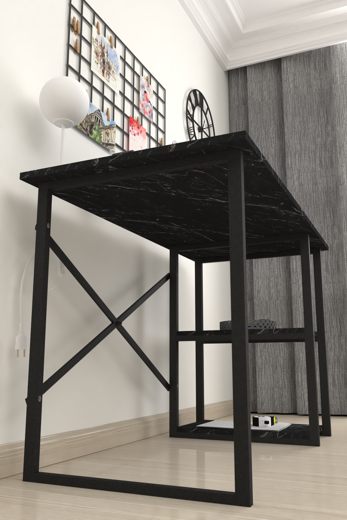 Bofigo 2 Raflı Çalışma Masası 60x120 cm Bendir