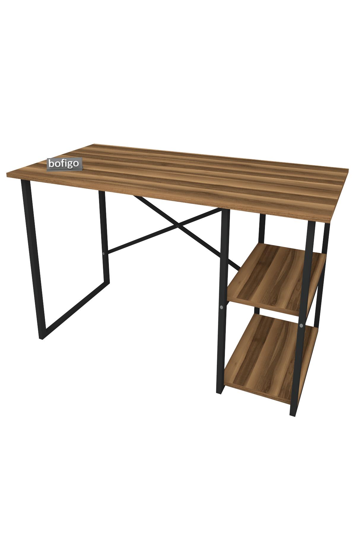 Bofigo 2 Raflı Çalışma Masası 60x120 cm Ceviz