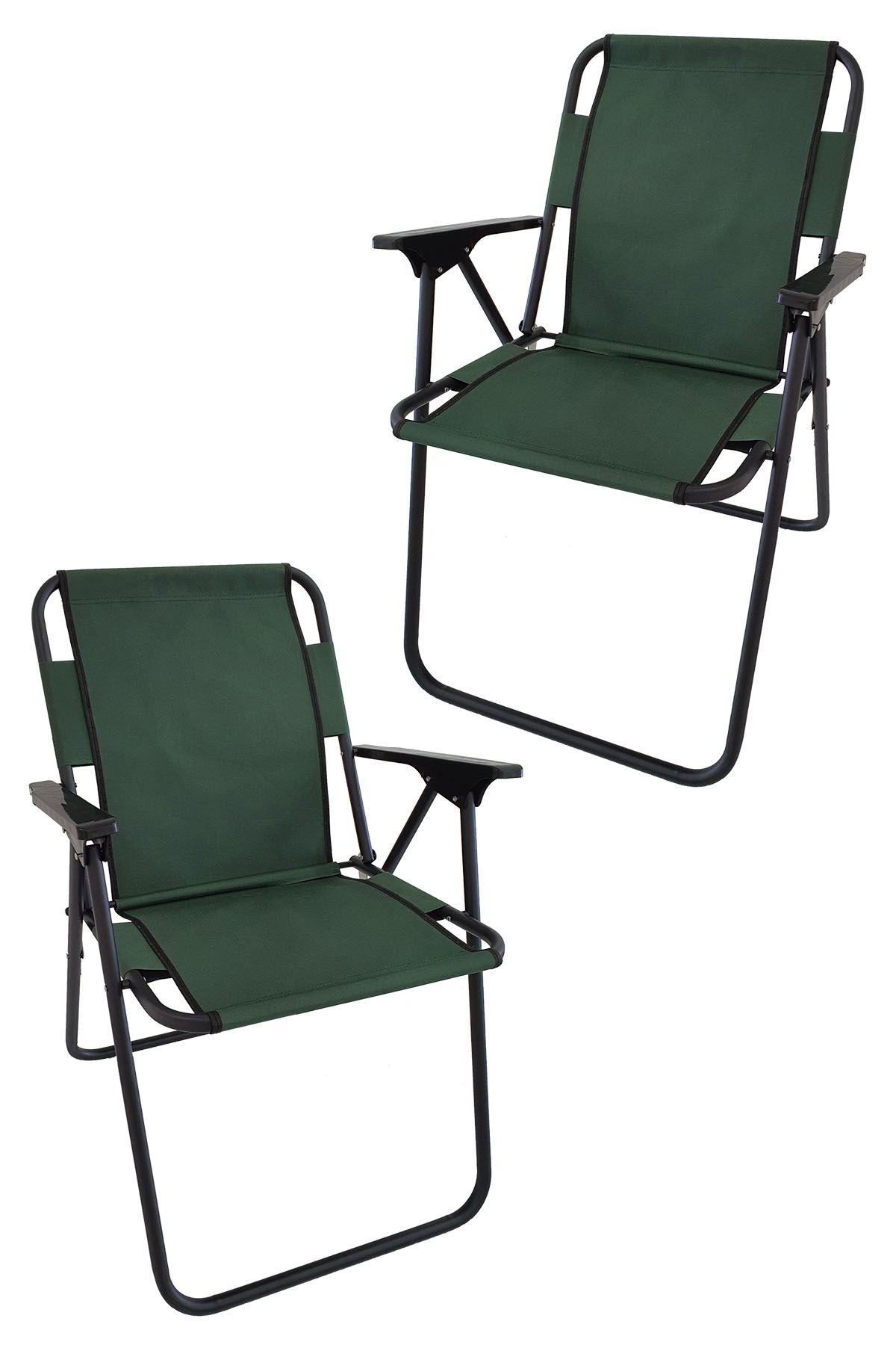 Bofigo 2 Adet Kamp Sandalyesi Katlanır Sandalye Piknik Sandalyesi Plaj Sandalyesi Yeşil