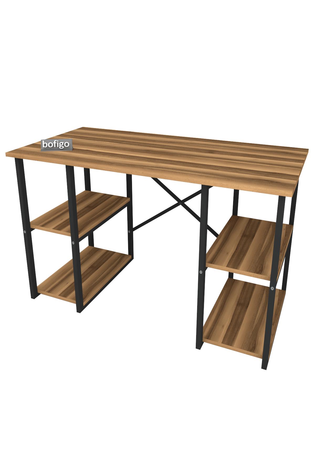 Bofigo 4 Raflı Çalışma Masası 60x120 cm Ceviz