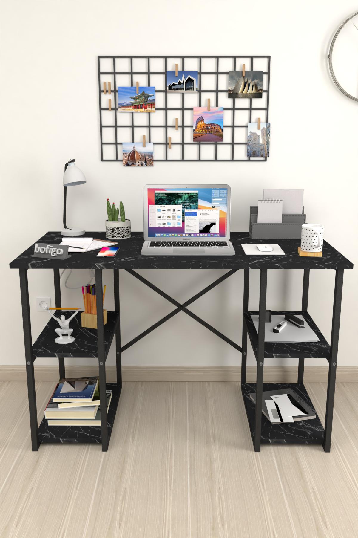 Bofigo 4 Raflı Çalışma Masası 60x120 cm Bendir