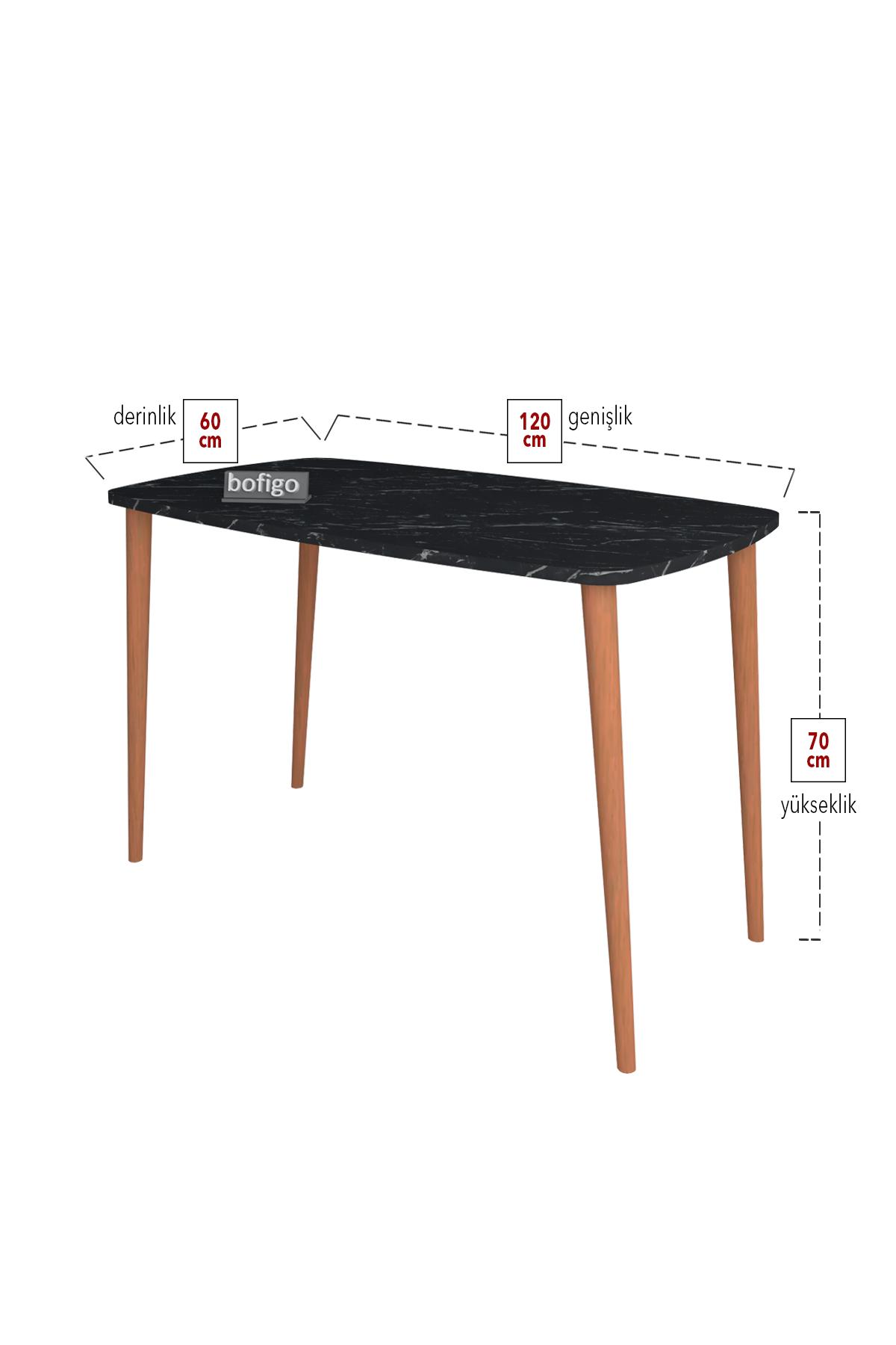 Bofigo Çalışma Masası 60x105 Cm Bendir (Ahşap Ayaklı)