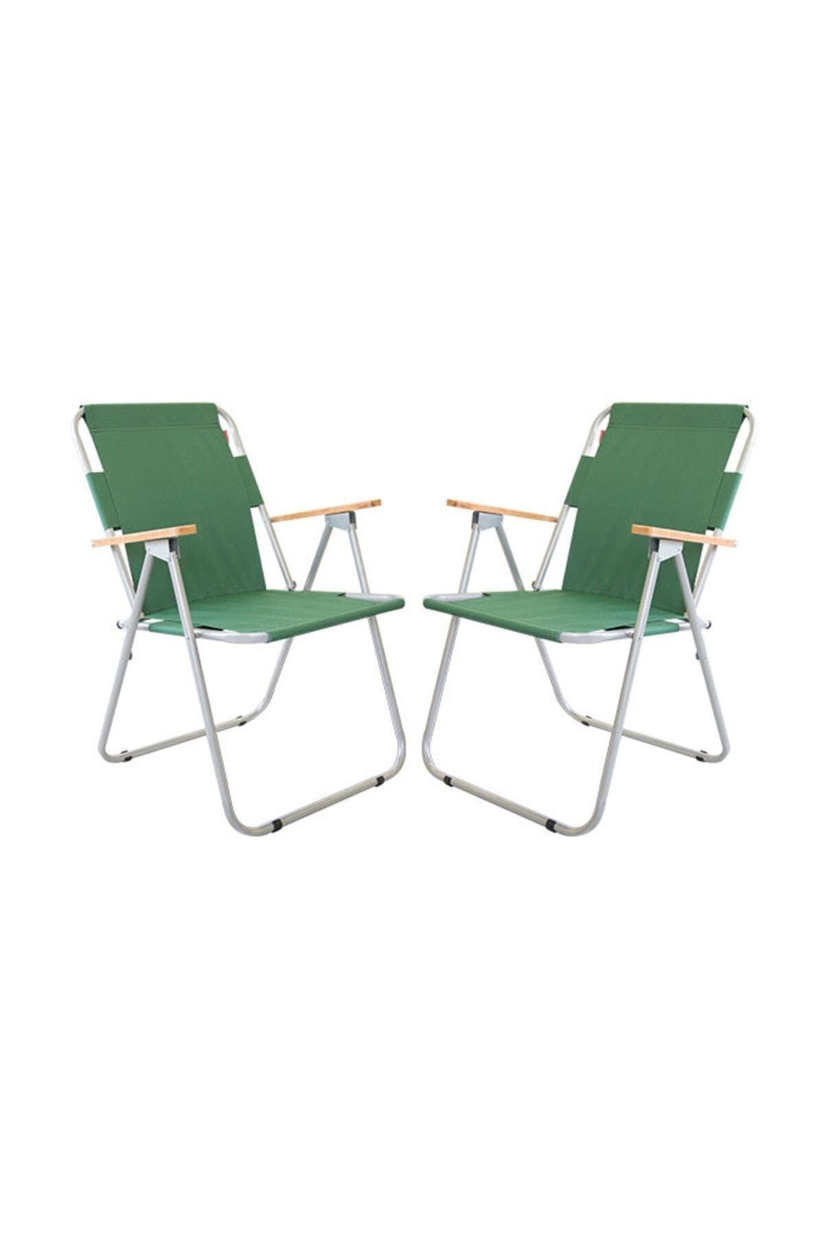 Bofigo 2 Adet Katlanır Sandalye Kamp Sandalyesi Balkon Sandalyesi Katlanabilir Piknik ve Bahçe Sandalyesi Yeşil
